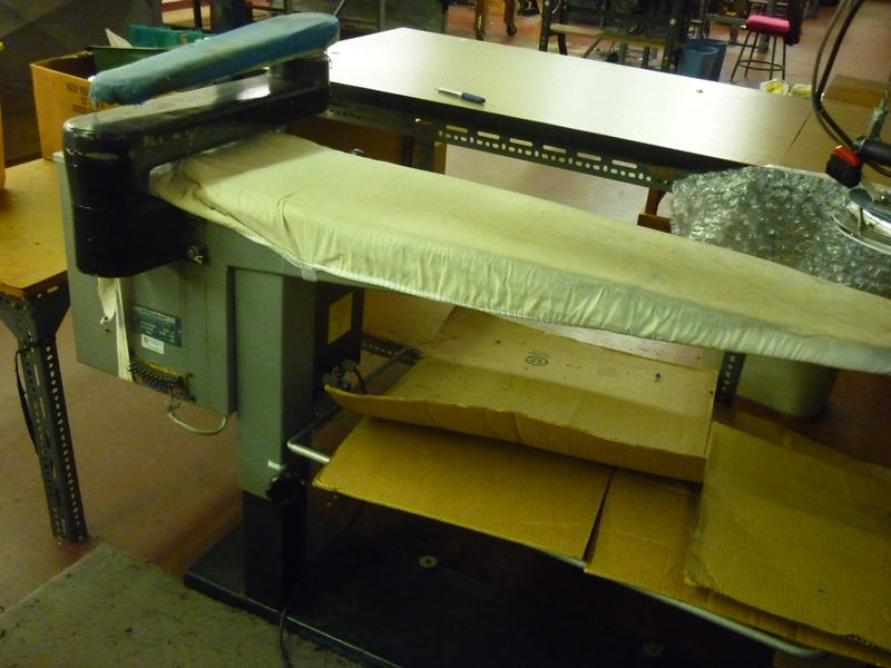 steam pressing table D-9939 - Item # 17050 - United Textile Machinery Corp.