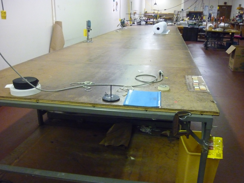 cloth cutting table D-9945 - Item # 17056 - United Textile Machinery Corp.